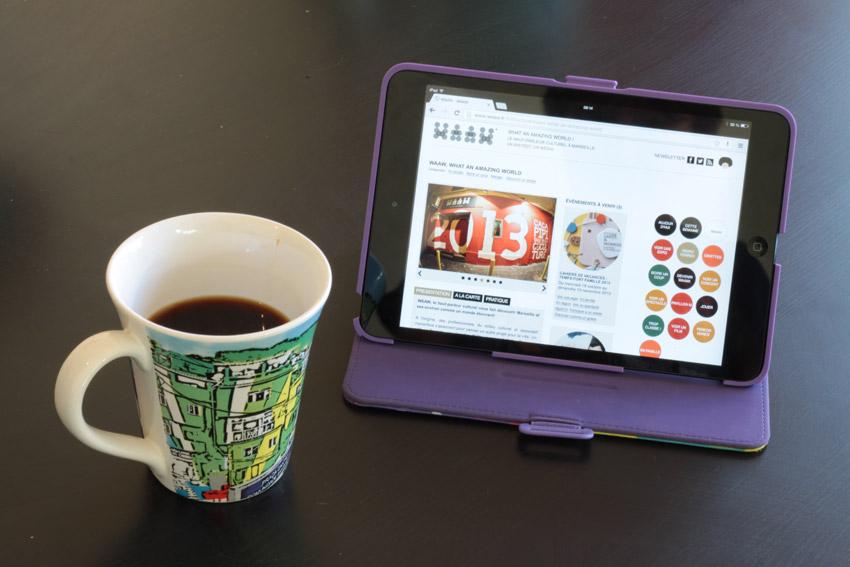 le site du WAAW sur tablette ipad mini