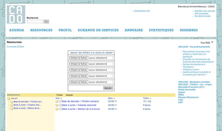 vu de la page ressource fichier pdf sur l'extranet  - AMI
