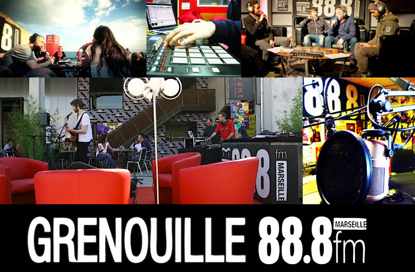 photos et le logo de radio grenouille