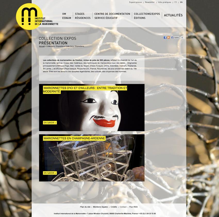 Page événement à l'Institut International de la Marionnette est un centre de formation, de création et de recherche à Charleville-Mézières, France