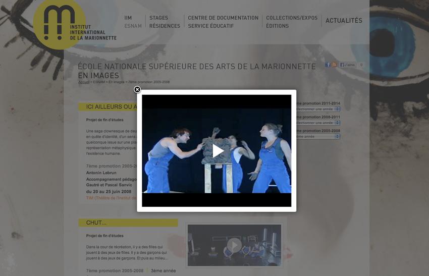 L'Institut International de la Marionnette (IIM) centre de formation, de création et de recherche à Charleville-Mézières en images