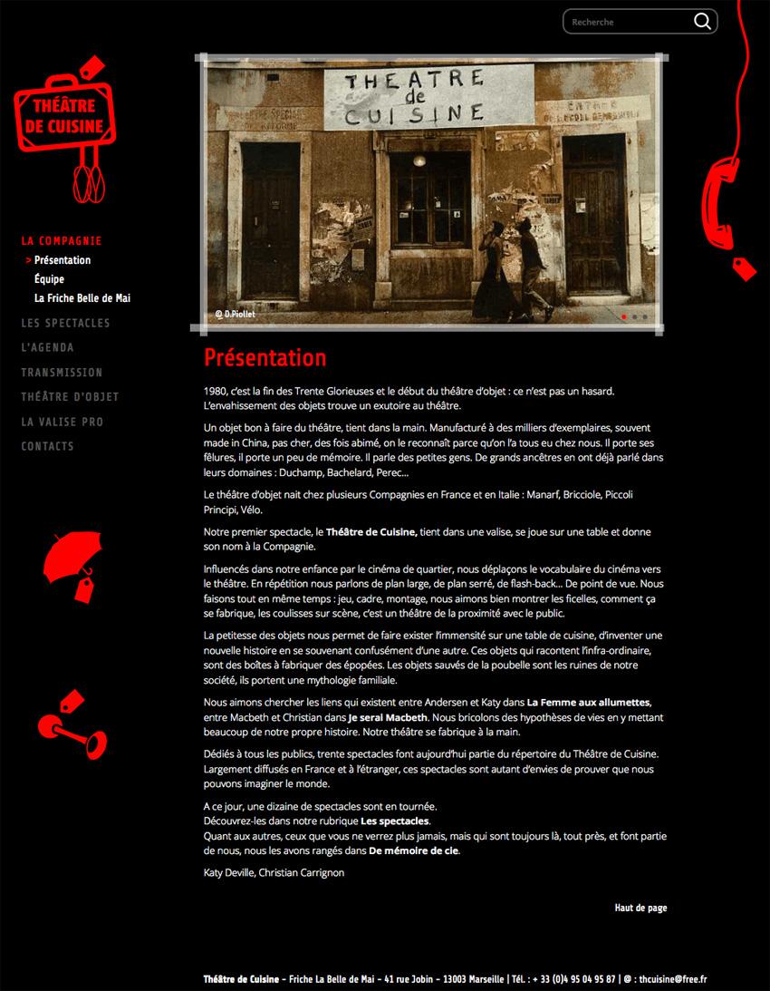 vue d'une page du site web de la compagnie