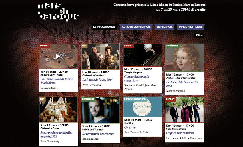 Festival Mars en Baroque - Programme