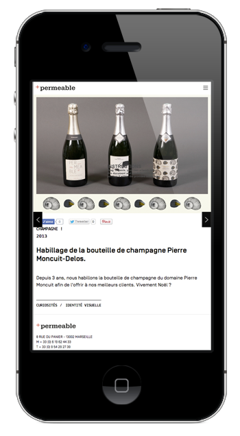Studio Permeable - Projet version mobile