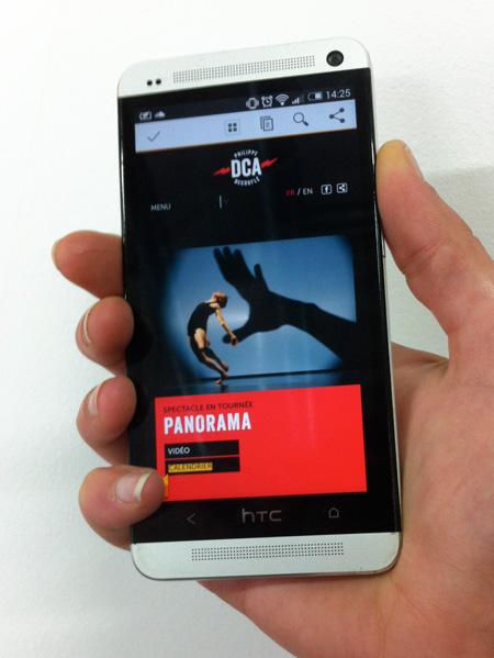Compagnie DCA, sur smartphone
