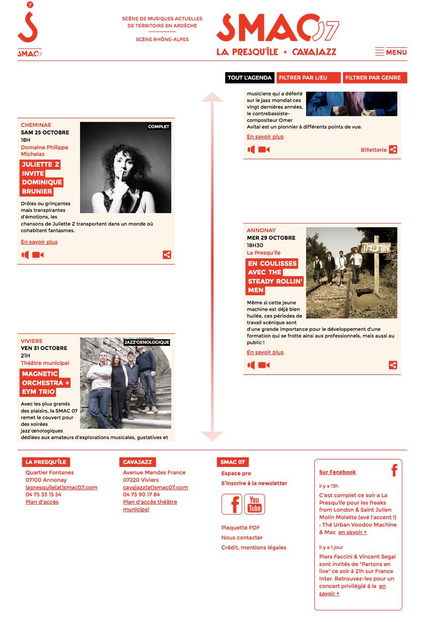 SMAC Ardèche 07 - Agenda des concerts