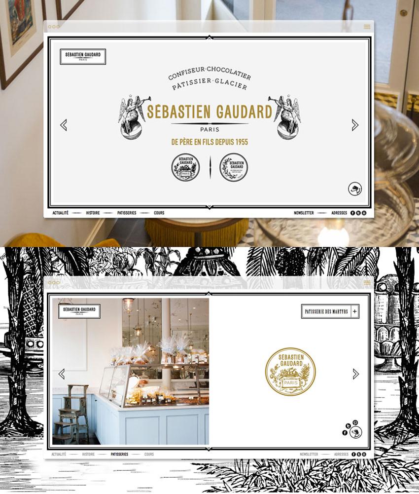 vues du site de Sébastien Gaudard version desktop