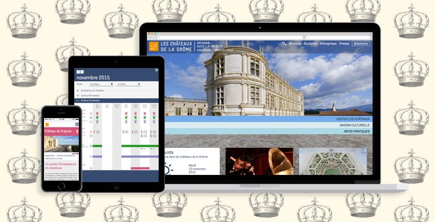 creation site web responsible chateau de la drome