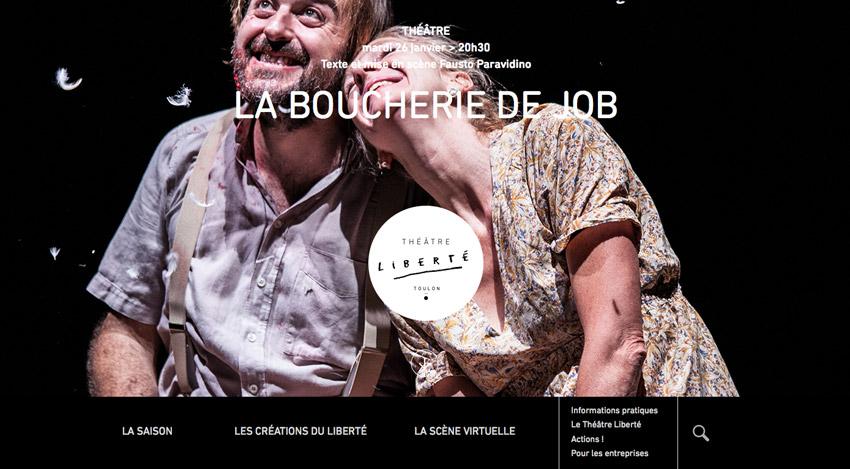 page d'accueil du théâtre liberté