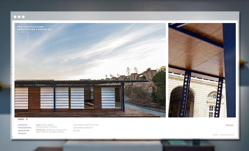 Page d'accueil du site de la Galerie 54 - Eric Touchaleaume