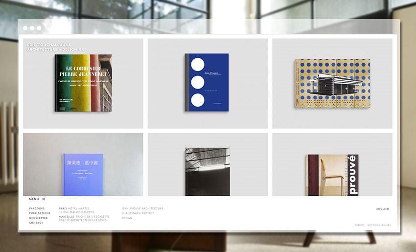 Page Publication du site de la Galerie 54 - Eric Touchaleaume