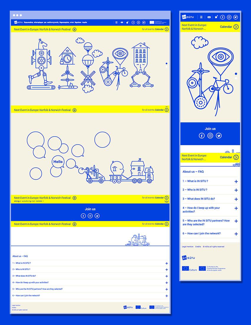 Vue de la page d'accueil version Desktop et Mobile