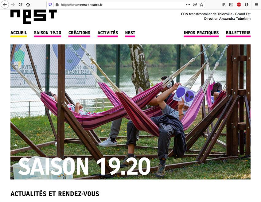 Nest, page d'accueil
